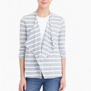 J.Crew Always Cascading Striped Cardigan Sweater M